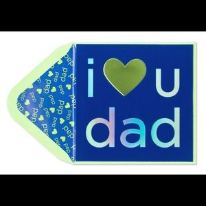 ⚡️5/$30⚡️Papyrus I love U dad, Father's Day card